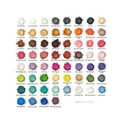 【イチオシ厳選】Arteza Mica Powder for Epoxy Resin, 60 Colors, Cosmetic Grade, 0.18 oz Bott