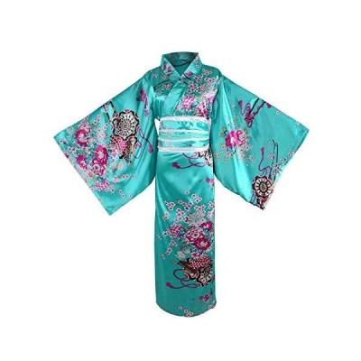 レディーズ 着物 ローブドレス 花柄 花魁 衣装 サテン 浴衣 ロング丈 バスローブ パジャマ ナイトドレス 夏祭り