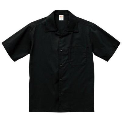 半袖シャツ メンズ 半袖 シャツ オープンカラー シャツ 無地
