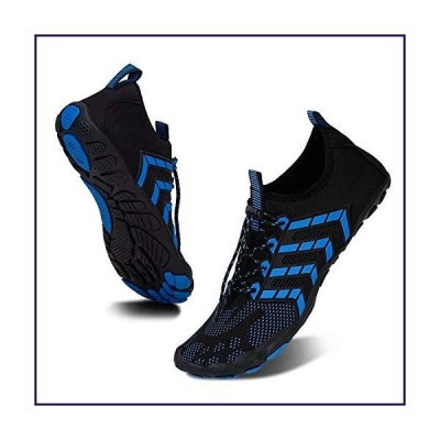 Water-Shoes-Mens-Womens Quick-Dry Barefoot-Swim Diving Shoes-Aqua-Socks for Sports Climbing Beach Surf (ZB3015/Black Blue-41)【並行輸入