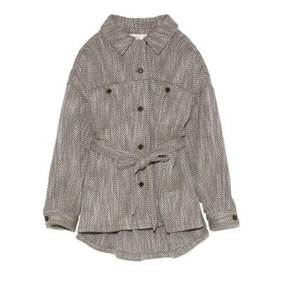リリーブラウン Lily Brown ビッグシルエットシャツジャケット (BRW)