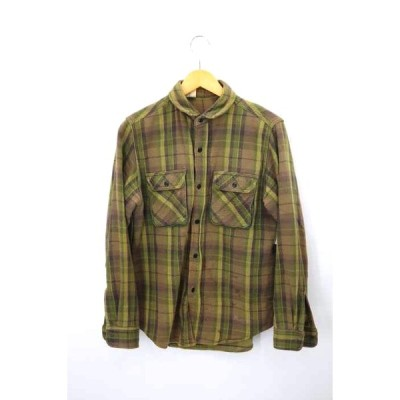 エヌハリウッド N.HOOLYWOOD コットンチェックネルシャツ メンズ 36 中古 210319
