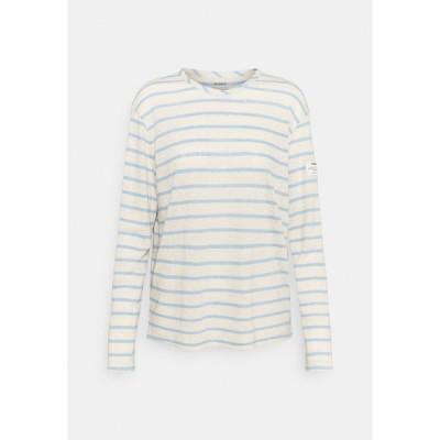 エコアルフ カットソー レディース トップス STRIPE LONG SLEEVE  - Long sleeved top - dark lavander