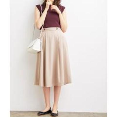 ビス【WEB限定SS,LLサイズ】サイドタックフレアスカート【お取り寄せ商品】