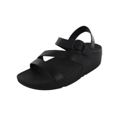 レディース 靴 コンフォートシューズ Fitflop Womens The Skinny Z-Cross Slingback Sandal Shoes All Black US 5
