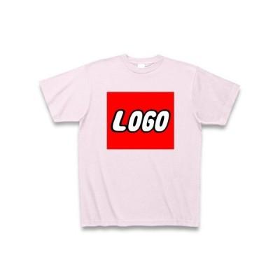【LEGO風】LOGO Tシャツ Pure Color Print(ピーチ)