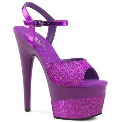 サンダル プリーザー pleaser ADORE-709-2G Purple Multi Glitter/Purple Multi Glitter ストラップ レディース 靴 お取り寄せ商品