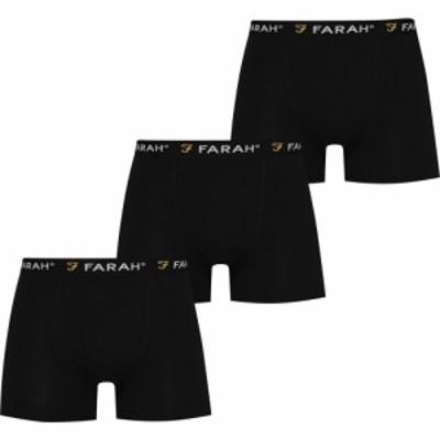 ファーラーヴィンテージ Farah Vintage メンズ ボクサーパンツ 3点セット インナー・下着 3 Pack Trunks Black