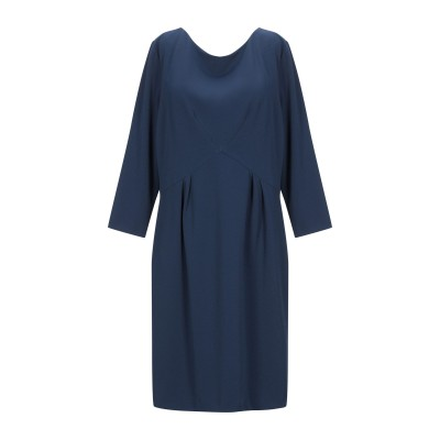 EMISPHERE ミニワンピース&ドレス ダークブルー 44 ポリエステル 95% / ポリウレタン 5% ミニワンピース&ドレス