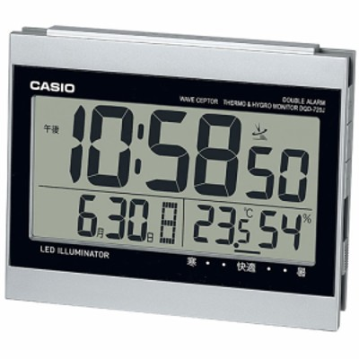 CASIO DQD-720J-8JF 温湿度計付き電波置き時計