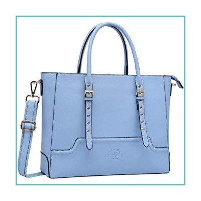 15.6 Inch Laptop Tote Bag for Women, Trend Work Bag Women Business Computer Bag for School Office Travel by EaseGave,Baby Blue Jay【並行