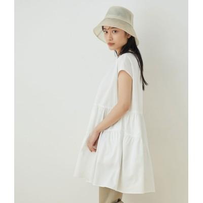 アダム エ ロペ ファム/【WEB限定】ティアードミニワンピース/ホワイト/F