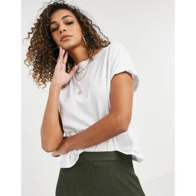 ニュールック New Look レディース Tシャツ トップス boxy tee in white ホワイト