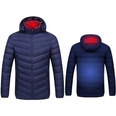 Urhomy 電熱ジャケット 電熱服 USB加熱式 ヒートジャケット 作業服 電熱ウェア ヒーター内蔵 暖房服 コート ヒーター付き 温度3段階調整