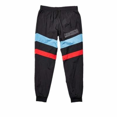 モスキーノ カジュアルパンツ ボトムス メンズ Stripe Detail Track Pants Black
