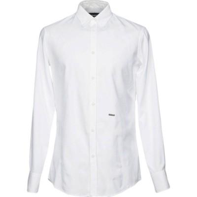 ディースクエアード DSQUARED2 メンズ シャツ トップス Solid Color Shirt White