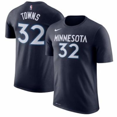 """ナイキ メンズ Tシャツ Karl-Anthony Towns """"Minnesota Timberwolves"""" Nike Name & Number Performance T-Shirt - Blue"""