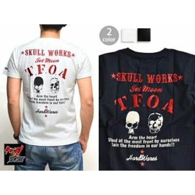 SWxT.F.O.A 柳巨次モデルTシャツ クローズ×ワーストコレクション CROWS 刺繍 漫画 コラボ スカルワークス