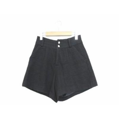 【中古】グラシア GLACIER ショートパンツ パンツ ボトムス ツイード ラメ混 S ブラック 黒 /YT4 レディース