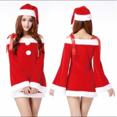 サンタ服 レディース サンタ衣装 サンタクロース パーティードレス サンタ服 仮装 クリスマス 女の子クリスマス 衣装 全国最低価挑戦