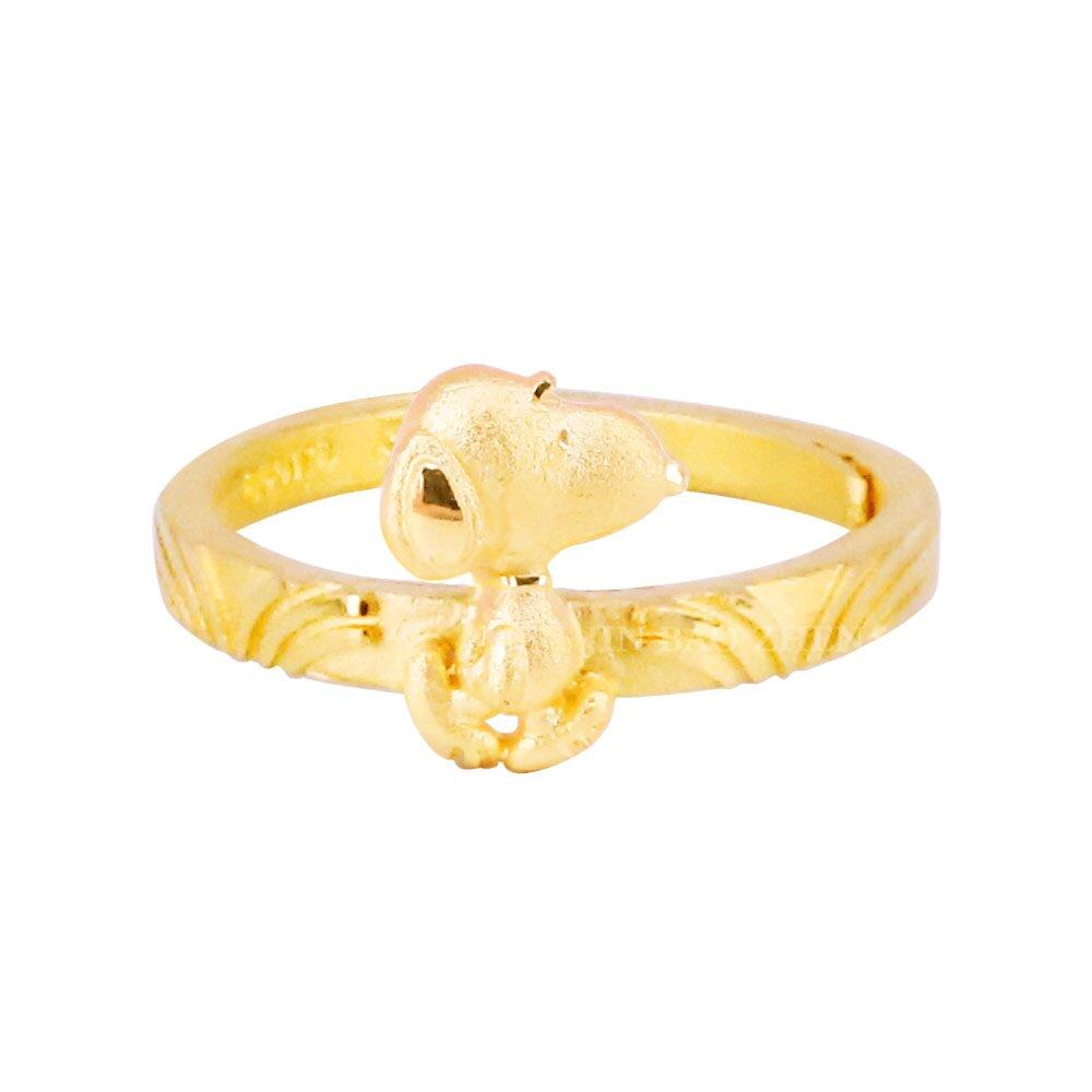 自信史努比-黃金戒指-SNOOPY