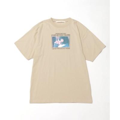 【レイカズン】 女の子フォトビックTシャツ レディース ベージュ FREE Ray Cassin