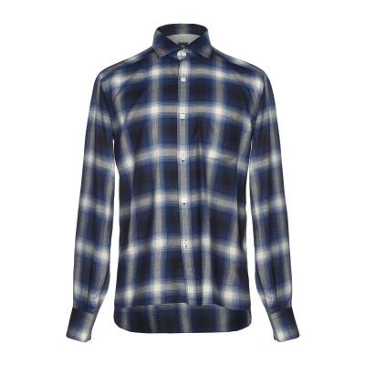 イレブンティ ELEVENTY シャツ ダークブルー 39 コットン 54% / 指定外繊維(テンセル)® 46% シャツ