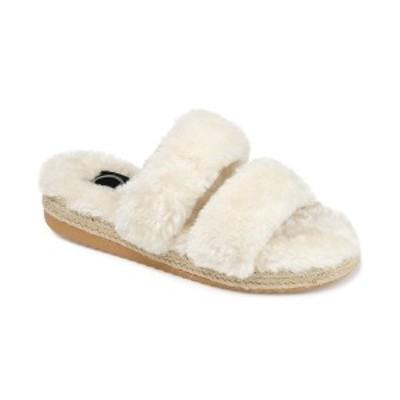 ジャーニーコレクション レディース サンダル シューズ Women's Faux Fur Relax Slipper Ivory