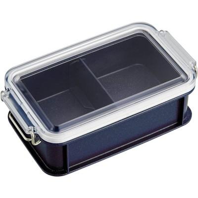 オーエスケー お弁当箱 シルバーモード コンテナランチボックス(仕切付) 600ml CNT-600