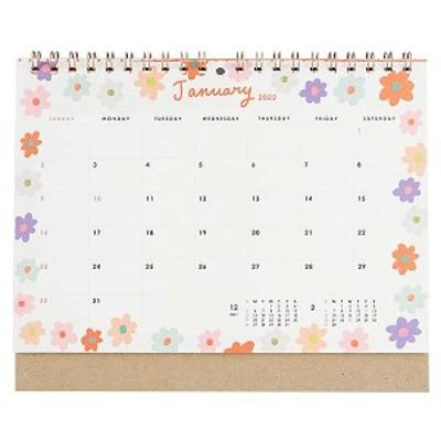 カレンダー 2022 卓上 GL シック C-1392-MM (G-17) 蛍光印刷 日曜始まり グリーティングライフ 2022年1月始まり 令和4年