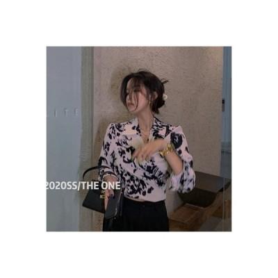 【送料無料】シャツ 女 デザイン 感 秋 もっと 種類 着用 フレンチ 襟 背 後ひもあり | 346770_A63811-2701062