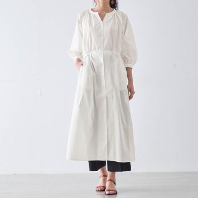 羽織りシャツワンピース【汚れにくい白】(フェール アン カラン/FAIRE UN CALIN)