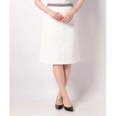 【アナイ アウトレット】 ドビーストレッチAラインスカート レディース ホワイト 38 ANAYI OUTLET