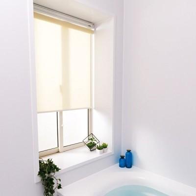 ロールスクリーン 浴室 お風呂場 バスルーム おしゃれ オーダー ポイント2倍 / 送料無料