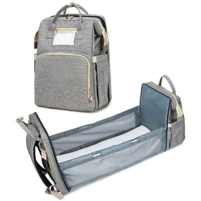 静かのショップ マザーズバッグ 大容量 防水 ママバッグ 保温ポケット付き マザーズリュック 赤ちゃんのベッドになる 簡易ベビーベッド 多機能 おしゃ