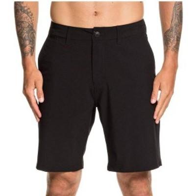 """クイックシルバー メンズ ハーフパンツ・ショーツ ボトムス Quiksilver Men's Union Amphibian 20"""" Shorts Black"""