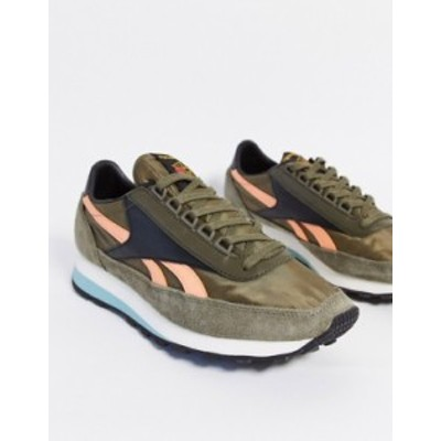 リーボック メンズ スニーカー シューズ Reebok geo-tribal OG runner sneakers in green Gr1 - green 1