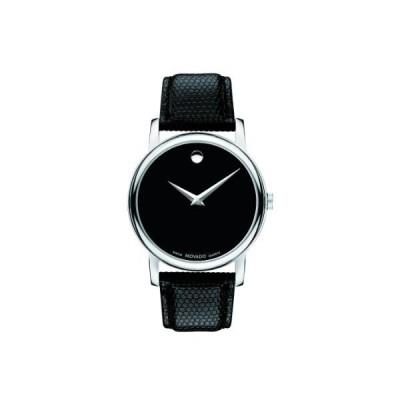 モバード Movado Men's 2100002 Museum Black Stainless Steel Watch 並行輸入品