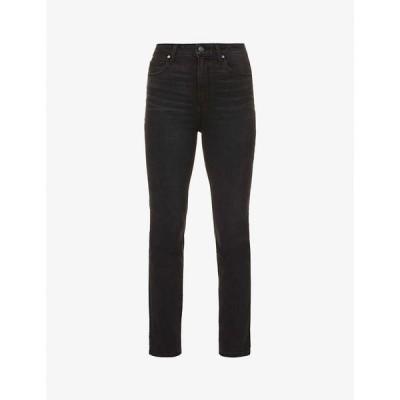 ペイジ PAIGE レディース ジーンズ・デニム スキニー・スリム ボトムス・パンツ Sarah Slim high-rise cotton-blend denim jeans Black Willow