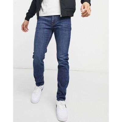 リー Lee メンズ ジーンズ・デニム スキニー・スリム ボトムス・パンツ rider slim fit jeans in dark westwater ブルー