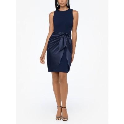 ベッツィ アンド アダム ワンピース トップス レディース Wrap-Skirt Dress Navy
