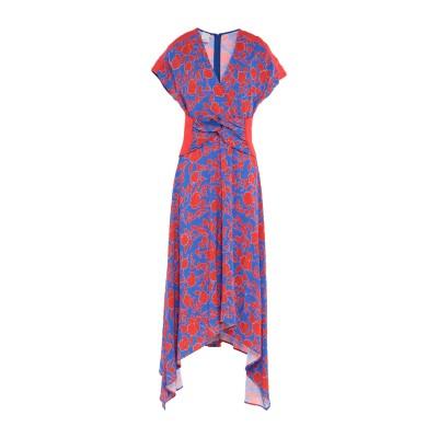 ピンコ PINKO 7分丈ワンピース・ドレス ブルー 40 レーヨン 100% 7分丈ワンピース・ドレス