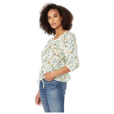 レディース 衣類 トップス Lucky Brand Womens Banded Button Down Blouse ブラウス&シャツ