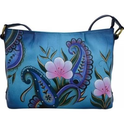 アヌシュカ ANNA by Anuschka レディース ショルダーバッグ バッグ Hand Painted Leather Shoulder Hobo 8333 Denim Paisley Floral