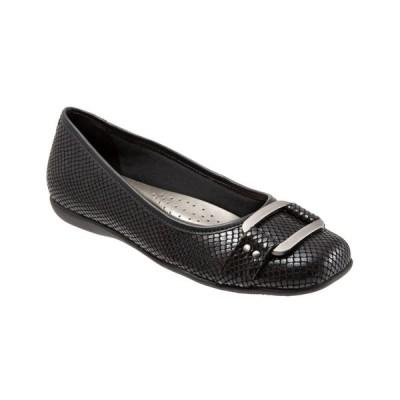 トロッターズ Trotters レディース スリッポン・フラット シューズ・靴 Sizzle Signature Mary Jane Flat Black Snake