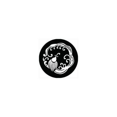 家紋シール 雨竜の丸紋 直径15cm 丸型 白紋 KS15M-0250W