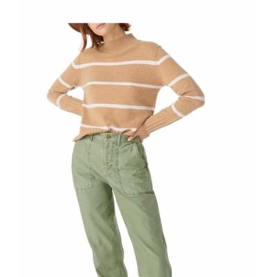 ジェイクルー ニット&セーター アウター レディース Stripe Cashmere Mock Neck Sweater Heather/Camel/Snow