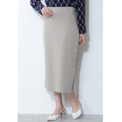スカート 【ウォッシャブル】ハイゲージニットセットアップスカート