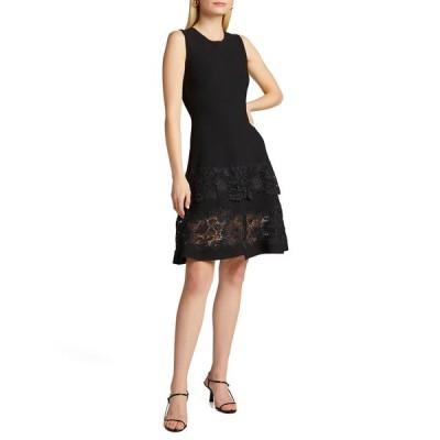 キャロライナヘレラ レディース ワンピース トップス Guipure Lace Fit & Flare Dress