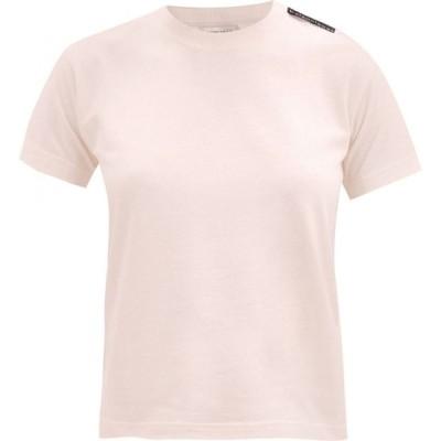 バレンシアガ Balenciaga レディース Tシャツ トップス Logo-tab cotton T-shirt Light pink
